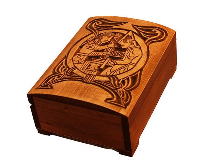 Personalized Hand Carved Wooden Box