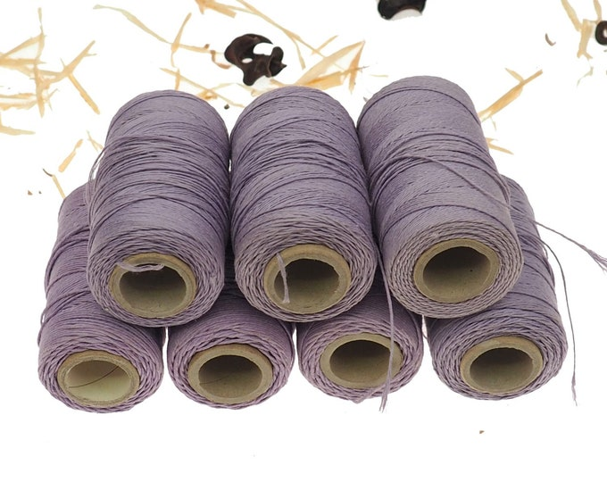 Violet linen thread, unwaxed Linen String ,natural Warp Thread thickness of 1mm/ 3ply 100grams (210 yards ~ 190 metres), linen sewing thread