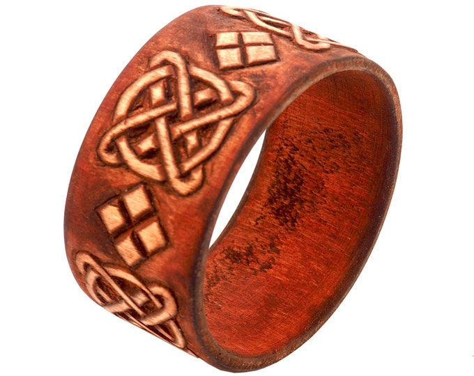 Wooden Jewelry Hand Carved Bracelet No 1