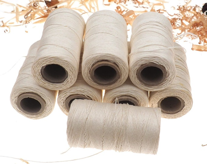 white linen thread, unwaxed Linen String ,natural Warp Thread thickness of 1mm / 3ply 100grams (210 yards ~ 190 metres), linen sewing thread
