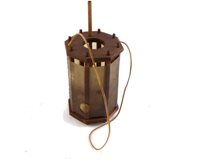Wooden Medieval Lantern with a lift