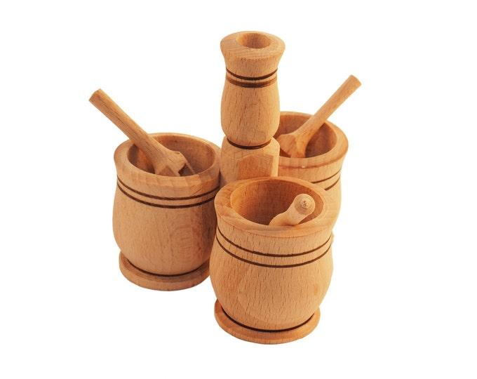 Condiment serving dish, table decor, wooden dish, wooden tableware, spice server, herb server, spice dispenser