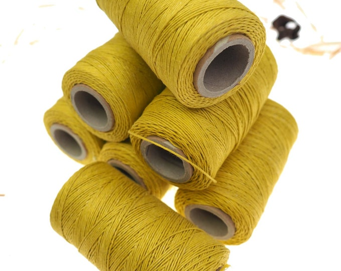 Green grass linen thread, unwaxed Linen String ,natural Warp Thread thickness of 1mm/ 3ply 100grams (210 yards ~ 190 metres),  sewing thread