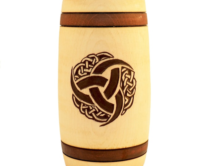 Triple Horn of Odin Hand Carved Wooden Beer Mug 0.5l 17 oz