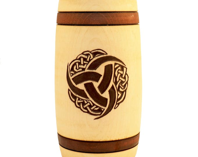 Triple Horn of Odin Hand Carved Wooden Beer Mug 0.7l 23 oz