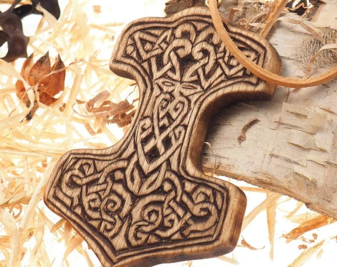 Hand carved Thor hammer pedant, viking pendant, pedant jewelry, Mjolnir,