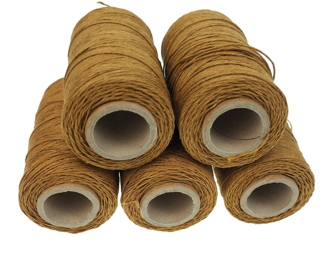 Golden Brown linen thread, unwaxed Linen String ,natural Warp Thread thickness of 1mm/ 3ply 100grams (210 yards ~ 190 metres), sewing thread