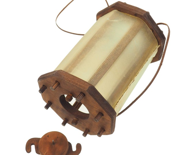 Wooden Medieval Lantern, opening from the bottom, Chestnut, Viking lamp, Larp, SCA, Lantern, Candle light,  Witcher, Historical Re-enactment