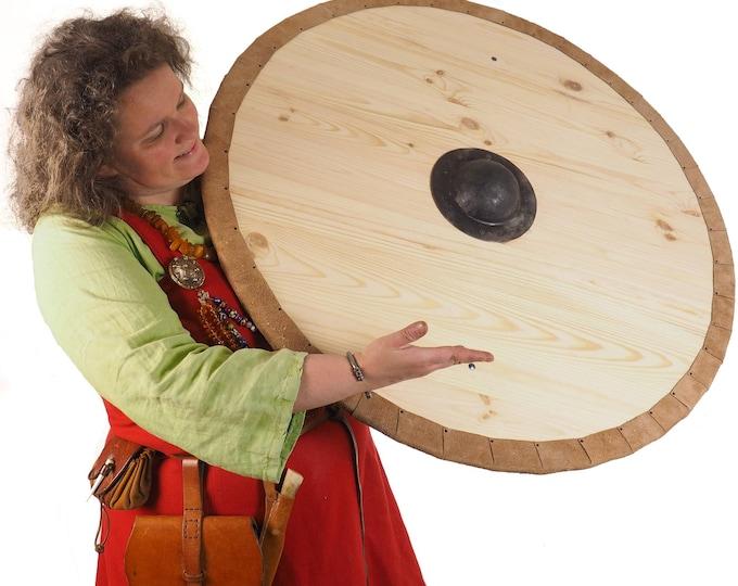 Blank custom pattern Viking Shield, 30 inch, Blank surface, Norsman shield, Wall decor, Larp and reenactment, SCA ready,