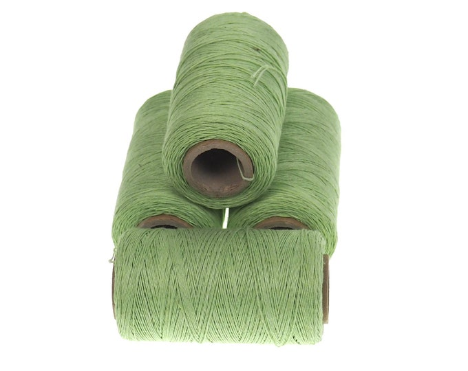 Light green linen thread, unwaxed Linen String ,natural Warp Thread thickness of 1mm/ 3ply 100grams (210 yards ~ 190 metres),  sewing thread
