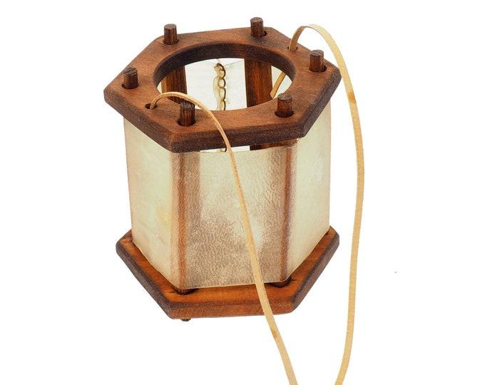 Small  Medieval Lantern,Chestnut  Witcher Netflix, wooden, Viking lamp, Larp, SCA, Lantern, Candle light, Witcher, Historical Re-enactment