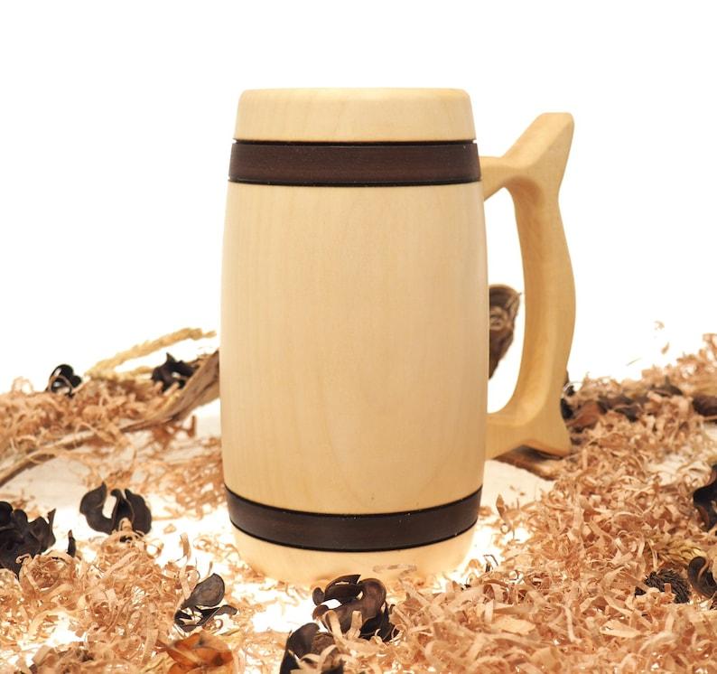 Wooden Beer Mug 0.7 litre  23 oz beer mugwooden cupwooden image 0