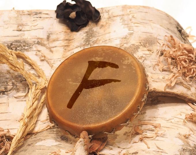Small runic drum shamanic pedant, viking runic drum pendant, pedant jewelry, runes