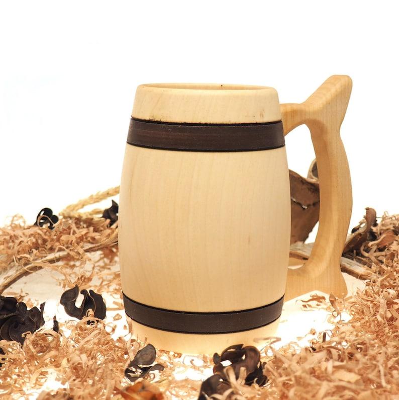 Wooden Beer Mug 1/2 litre 17 oz beer mugwooden cupwooden image 1