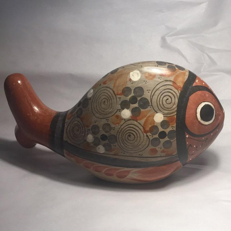 Tonala Mexican Folk Art Ceramic Fish
