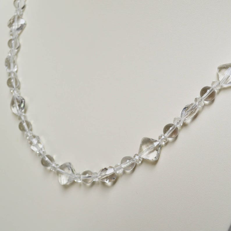 Handmade Jewelry Bridal Gift for Her Handmade Necklace with  Clear Premium Natural Rock Crystals Handmade Gift