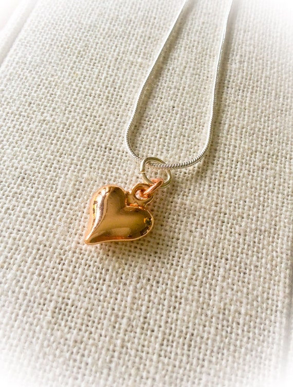 Heart necklace, rose gold necklace, gift for mom, rose gold, long necklace, gifts for her, layering neckace, everyday jewellery