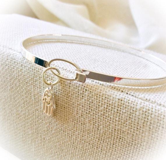 Bangles, bangle bracelet, mother gift, stacking bangle, skinny bracelet, gift for her, yoga jewelry for women, Hamsa bangle, yoga jewellery,