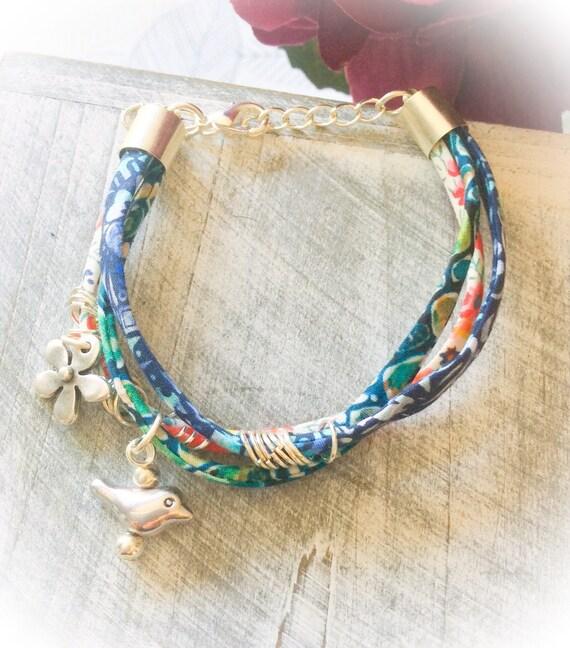 Floral bracelets, charm bracelets, birthday gift, handmade, friendship bracelets, summer jewellery, boho bracelet, pretty bracelet, birthday