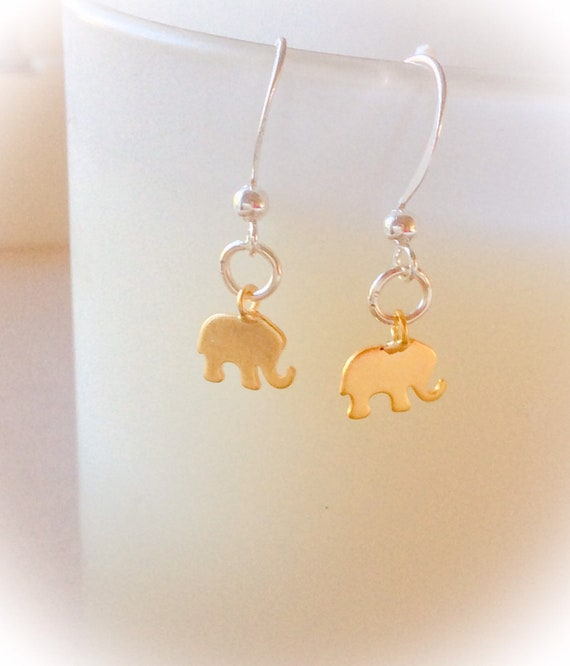 gold earrings for women, elephant jewelry, elephant earrings, elephant gift, new mom gift, birthday gift, gift for women, earring gift