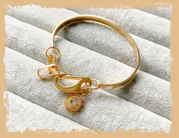 Gold chunky chain bangle, chunky bangle, statement bangle, bangle bracelet, evil eye bangle, birthday bangle gifts, yoga bangle, gold bangle