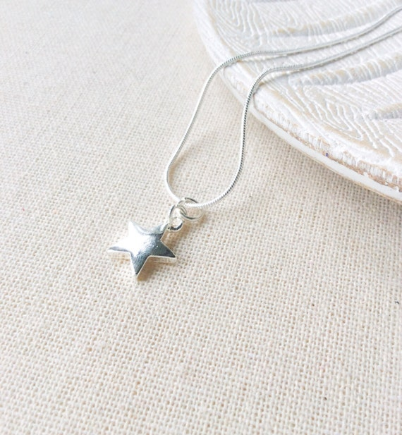 Sterling Silver Star Pendant  - gift for girlfriend - layered necklace - Birthday gift for friend - Star necklaces - elegant jewelry