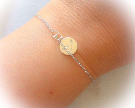 zodiac bracelet, constellation jewellery, capricorn, silver bracelet gifts, best friend gift, dainty bracelet, cosmic jewellery