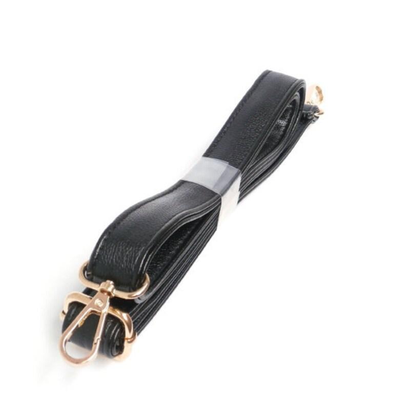 Black PU Leather Bag Belt Strap Replacement for Shoulder Bags Handbags