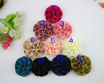 Carnation Fabric  Flower - Fabric Flower - Handmade Accessories For Headbands