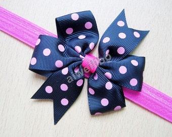 Polka Dot Bow Headband, Polka Dot Baby Headband,Baby Girl Headbands