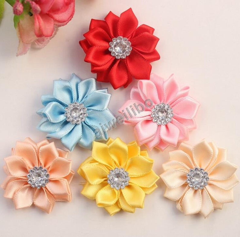Beads & Jewelry Making Jewelry Findings & Components 20 Pcs Satin Cloth Gauze Flowers Connectors Diy Handmade Headwear Accessories For Jewelry Making