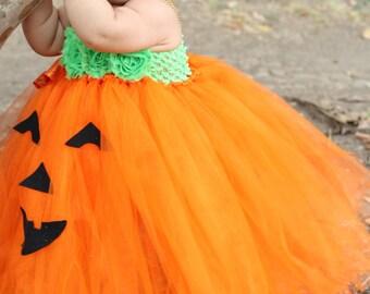 adorable baby pumpkin costume pumpkin tutu dress for baby girl 6 18 months baby halloween