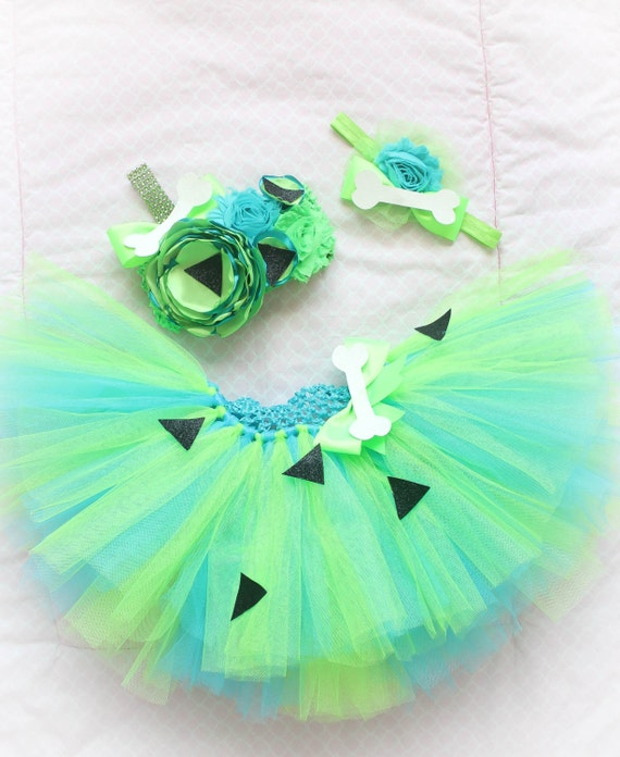 & Adorable Baby Pebbles Costume Tutu Dress Set 3 Piece for Baby