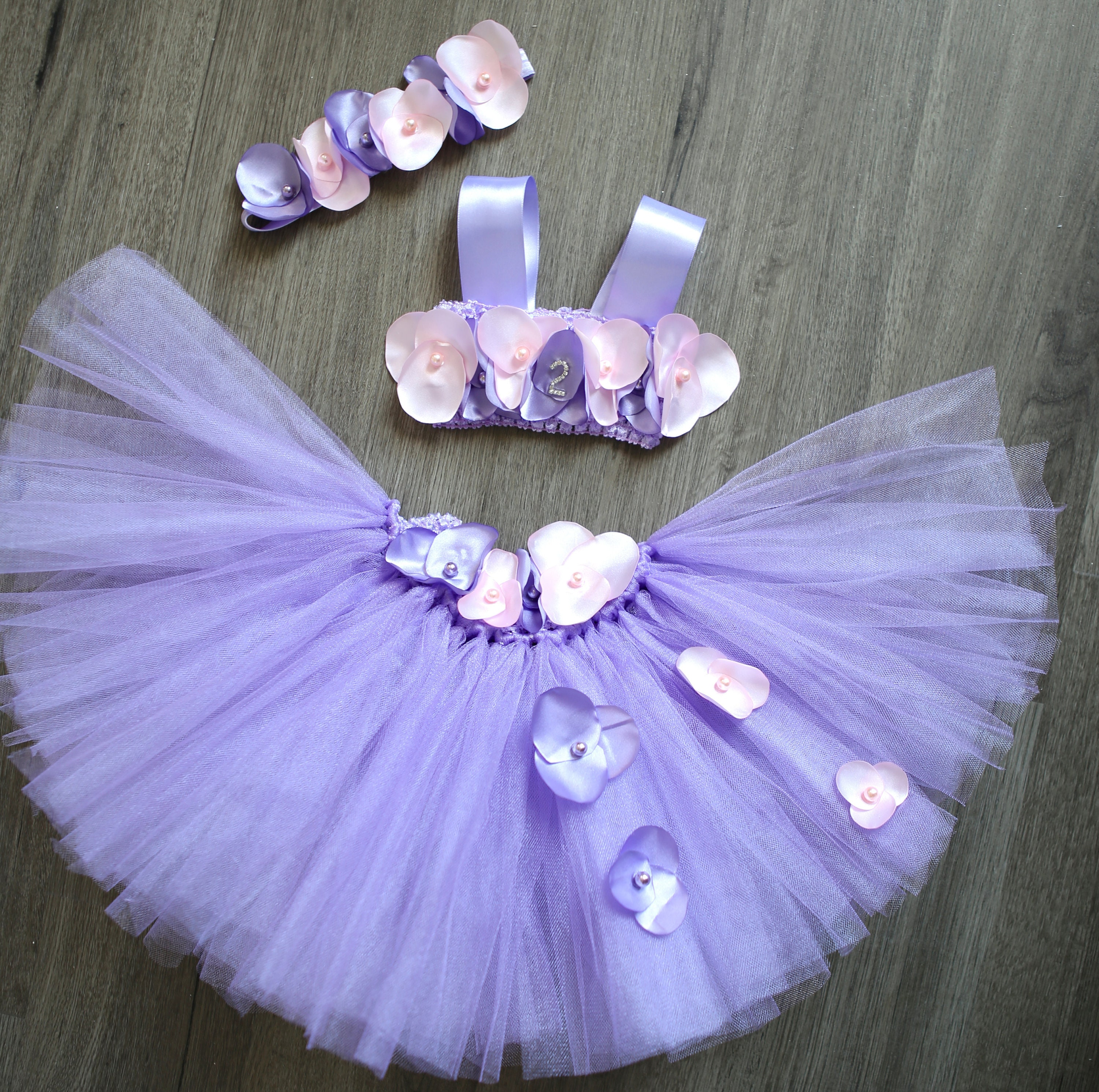 Gorgeous pink and lavender petal flower girl tutu dress for etsy 50 izmirmasajfo