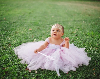 Gorgeous Light Pink Tutu Dress for Baby Girl 6-18 Months First Birthday