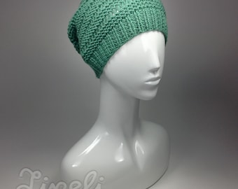 0a9b7923c14 Sea green winter hat