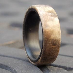 Men/'s Natural Peridot wood ring size 12 Buckeye Burl wood ring Unique Men ring Cool men ring Men Peridot ring Different Men wood stone ring