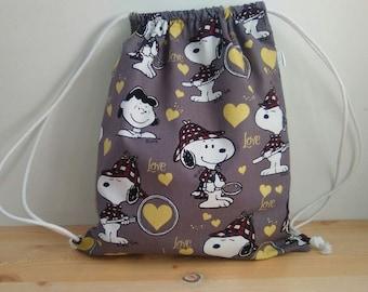 Snoopy backpack,kids backpack,children backpack,school backpack,kids lunch bag,draw string bag,kids string bag,cartoon fabric,snoopy fabric