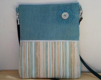 Canvas Tote Bag,tote bag,fabric tote,crossbody bag,zippered bag,denim bag,striped bag,boho bag, denim tote bag,printed bag,black tote,bag