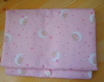 Baby Changing Mat, baby change mat, baby change pad, baby girl mat, pink changing mat, kitty changing mat, pink change mat, pink change pad