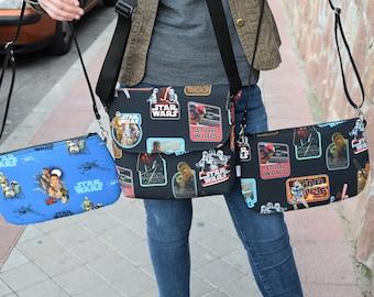 Star wars purse,starwars bag,star wars fabric,star wars purse bag,crossbody bag,star wars print,rogue one,empire strikes back,star wars