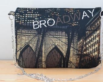 Manhattan bag, New York bag, manhattan clutch, new york clutch, Manhattan fabric, Madison bag, new yourk bag, canvas clutch, canvas bag
