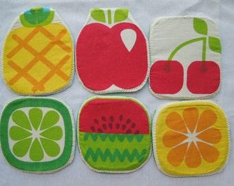 Pinneaple coaster,lemon potholder, pomelo coaster, fruit potholder,fruit coaster,cherry potholder, quilted coaster,quilted potholder