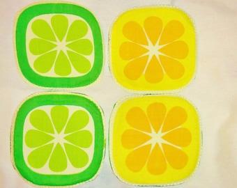Pomelo coaster,lemon potholder, fruit coaster, fruits potholder,pomelo fruit coaster,fruit potholder, quilted coaster,quilted potholder