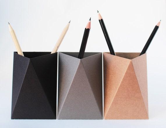 Organisateur de bureau box noir coupe crayon porte stylo etsy