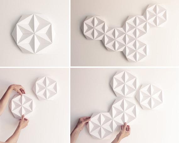 White Diy Wall Art Diy Home Decor Paper Craft Wall Etsy