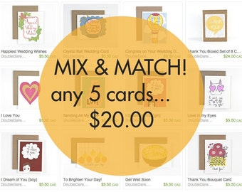 5 for 20 Greeting Card Mix and Match!
