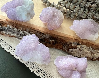 One Small Raw Spirit Quartz Crystal | Purple Pink Cactus Quartz | Healing Crystals and Stones | Holistic Health | Mineral | Rocks and Geodes