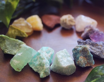 Petite Crystal Pack   One Quarter Pound Bulk Wholesale Rough Healing Crystals and Stones   Crystal Grid   Meditation   Raw Crystals