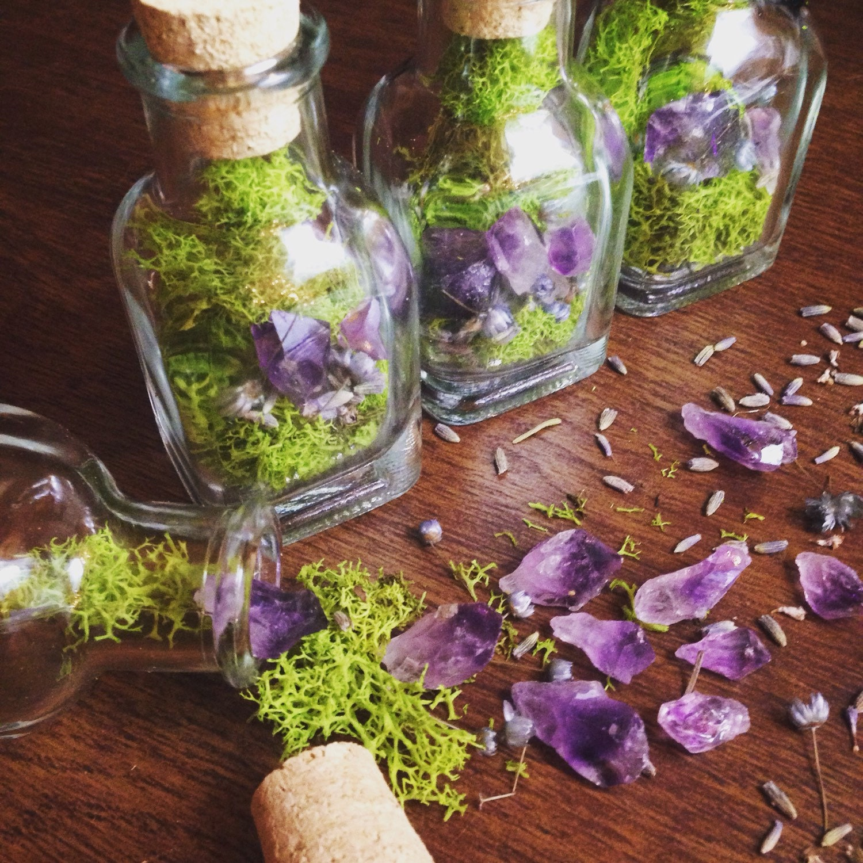 terrarium glas fee garten geschenk f r ihre rohen kristall etsy. Black Bedroom Furniture Sets. Home Design Ideas
